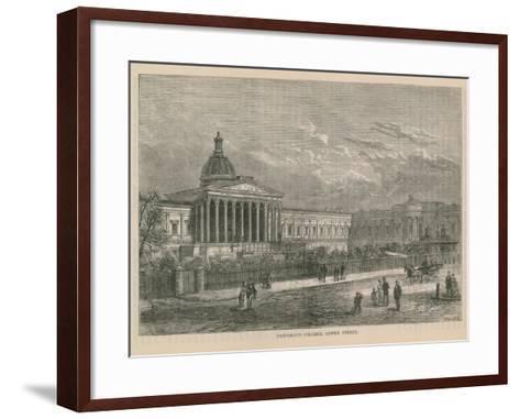University College on Gower Street--Framed Art Print