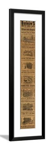 Advert for P T Barnum's Greatest Show on Earth--Framed Art Print