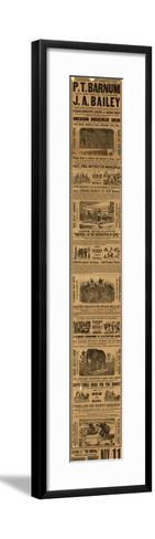 Advert for the Appearance of P T Barnum and J a Bailey's Show at Olympia--Framed Art Print