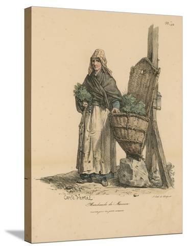 Marchand De Mouron-Antoine Charles Horace Vernet-Stretched Canvas Print