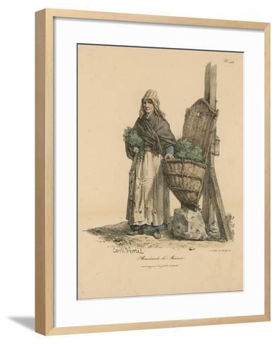 Marchand De Mouron-Antoine Charles Horace Vernet-Framed Art Print