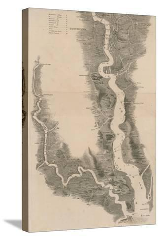 Tombleson's Panoramic Map of the Thames and Medway--Stretched Canvas Print