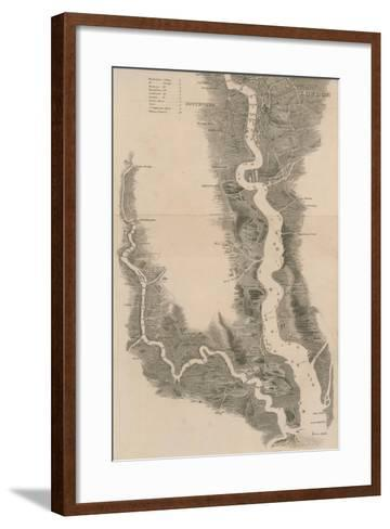 Tombleson's Panoramic Map of the Thames and Medway--Framed Art Print
