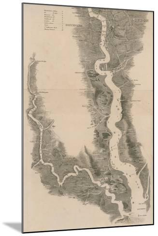 Tombleson's Panoramic Map of the Thames and Medway--Mounted Giclee Print