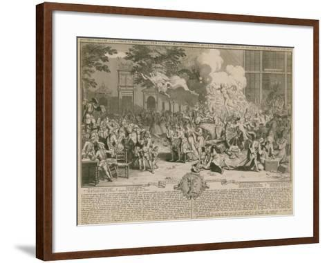 Monument Consecrated to Posterity in Memory of the Unbelievable Folly of the 20th Year of the…--Framed Art Print