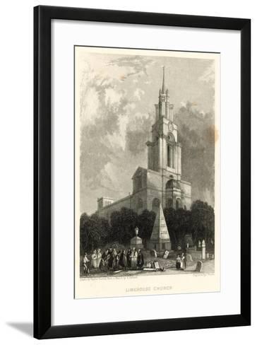 Limehouse Church; St Anne's Church, Limehouse, London-Hablot Knight Browne-Framed Art Print