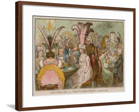 Lady Godina's Rout, Or, Peeping-Tom Spying Out Pope-Joan-James Gillray-Framed Art Print