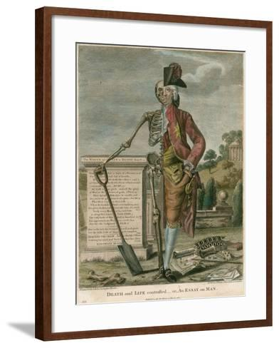 Death and Life Contrasted, Or, an Essay on Man-Robert Dighton-Framed Art Print