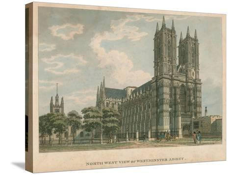 North West View of Westminster Abbey, London-Thomas Malton-Stretched Canvas Print