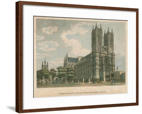 North West View of Westminster Abbey, London-Thomas Malton-Framed Art Print