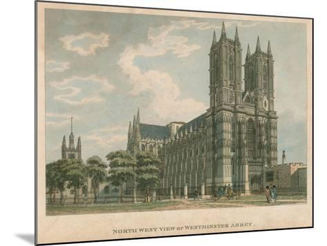North West View of Westminster Abbey, London-Thomas Malton-Mounted Giclee Print