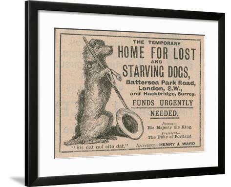 Advertisement for Battersea Dogs Home--Framed Art Print