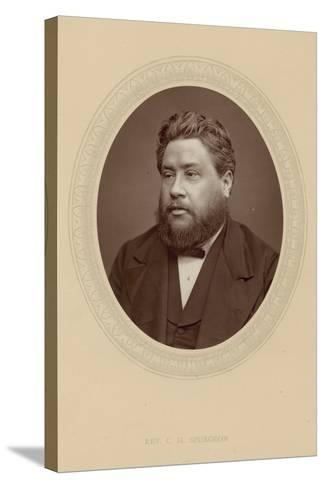 The Reverend Charles Haddon Spurgeon--Stretched Canvas Print