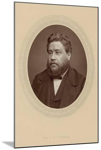 The Reverend Charles Haddon Spurgeon--Mounted Photographic Print