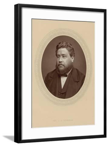 The Reverend Charles Haddon Spurgeon--Framed Art Print