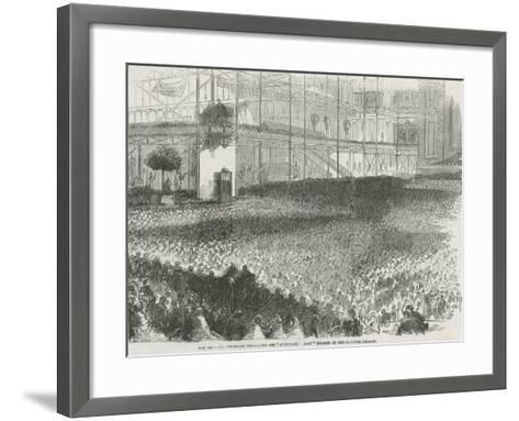 The Reverend Charles Haddon Spurgeon Preaching His 'Humiliation Day' Sermon in the Crystal Palace--Framed Art Print