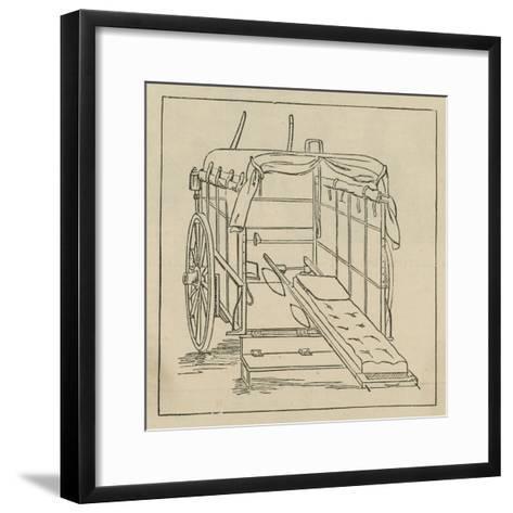 Hospital and Accident Ambulance Service Vehicle--Framed Art Print