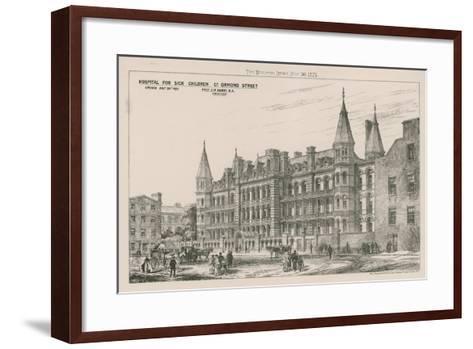 Hospital for Sick Children, Great Ormond Street--Framed Art Print