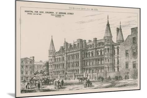 Hospital for Sick Children, Great Ormond Street--Mounted Giclee Print