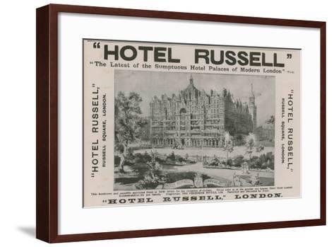 Hotel Russell, Russell Square, London-Harold Oakley-Framed Art Print