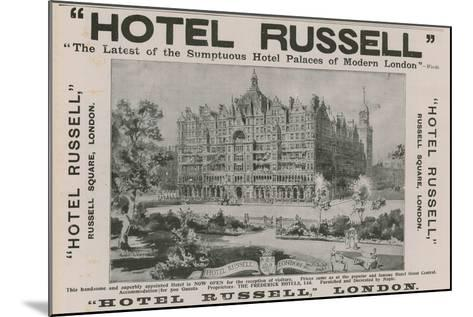 Hotel Russell, Russell Square, London-Harold Oakley-Mounted Giclee Print