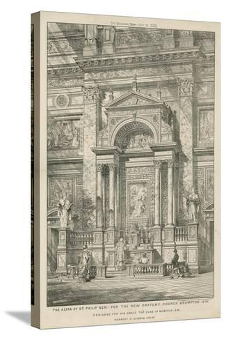 The Altar of St Philip Neri for the New Oratory Church--Stretched Canvas Print