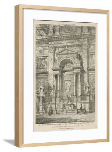 The Altar of St Philip Neri for the New Oratory Church--Framed Art Print