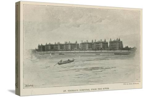 St Thomas's Hospital, from the River--Stretched Canvas Print