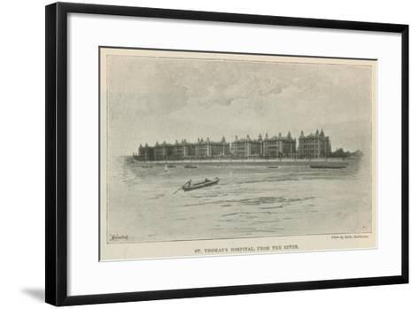 St Thomas's Hospital, from the River--Framed Art Print