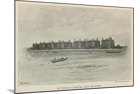 St Thomas's Hospital, from the River--Mounted Giclee Print