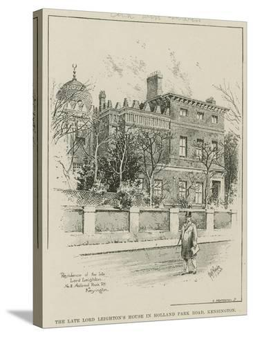 The Late Lord Leighton's House in Holland Park Road, Kensington, London--Stretched Canvas Print