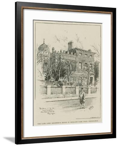 The Late Lord Leighton's House in Holland Park Road, Kensington, London--Framed Art Print