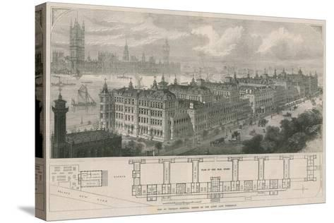 New St Thomas's Hospital, Opened by the Queen Last Wednesday-John Sulman-Stretched Canvas Print