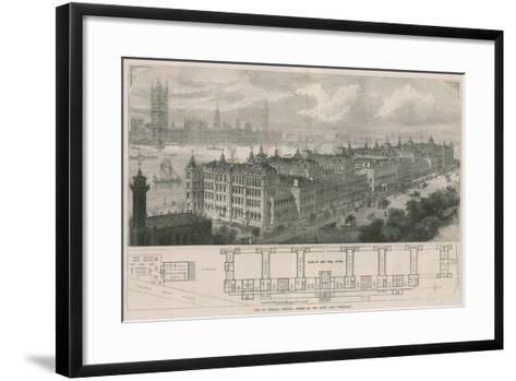 New St Thomas's Hospital, Opened by the Queen Last Wednesday-John Sulman-Framed Art Print
