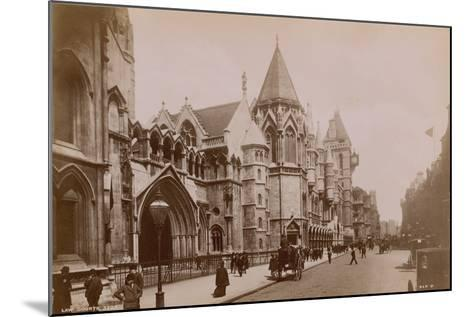 The Royal Courts of Justice--Mounted Photographic Print