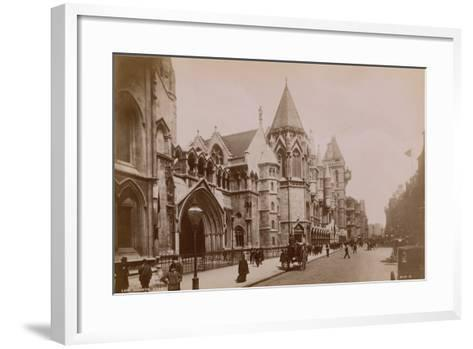 The Royal Courts of Justice--Framed Art Print