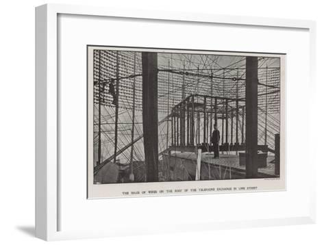 The Maze of Wires on the Roof of the Telephone Exchange in Lime Street--Framed Art Print