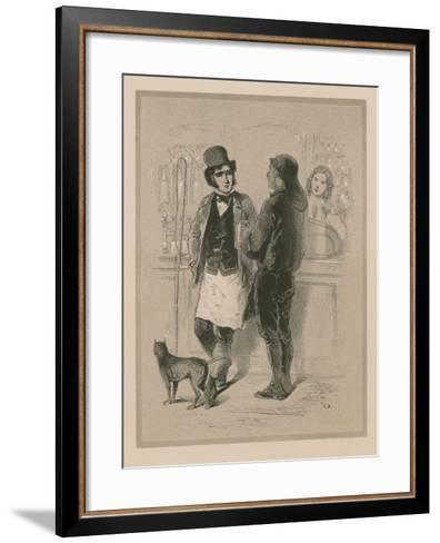 Drinking in a London Tavern--Framed Art Print
