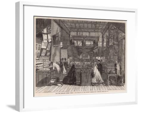 The International Exhibition; the New Zealand Court--Framed Art Print