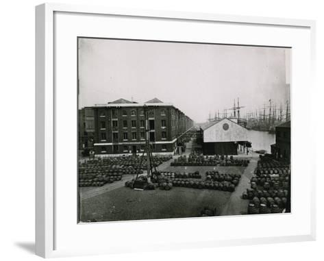London Docks--Framed Art Print