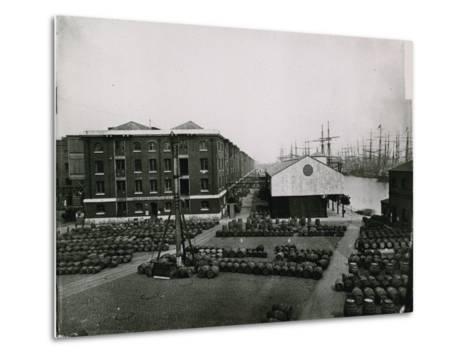 London Docks--Metal Print