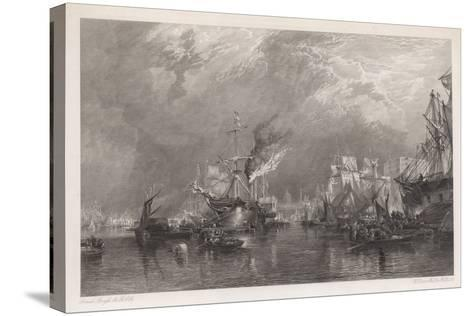 The Port of London-Samuel Bough-Stretched Canvas Print