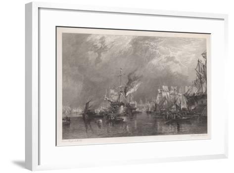 The Port of London-Samuel Bough-Framed Art Print