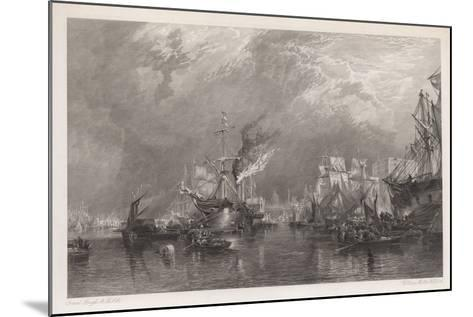 The Port of London-Samuel Bough-Mounted Giclee Print