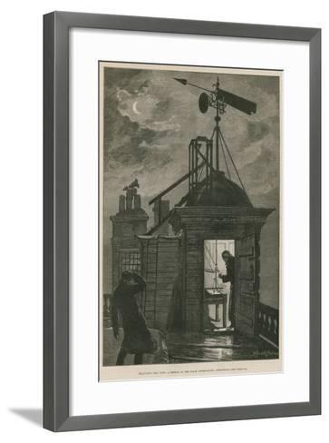 Measuring the Wind; a Sketch at the Royal Observatory, Greenwich-William Bazett Murray-Framed Art Print