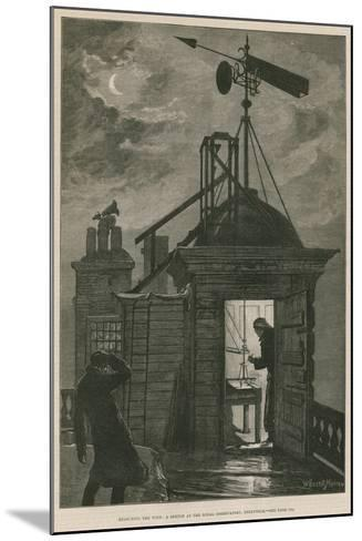 Measuring the Wind; a Sketch at the Royal Observatory, Greenwich-William Bazett Murray-Mounted Giclee Print