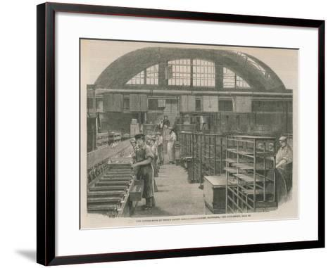 The Candle Room at Price's Patent Candle Manufactury, Battersea--Framed Art Print