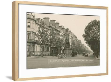 Queen's Gate, Kensington, London--Framed Art Print