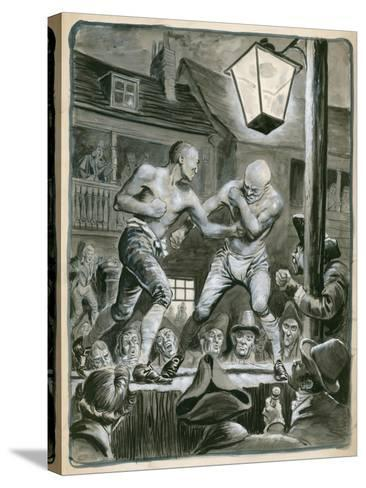 Street Bare Knuckle Fight-Peter Jackson-Stretched Canvas Print