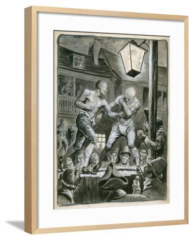 Street Bare Knuckle Fight-Peter Jackson-Framed Art Print